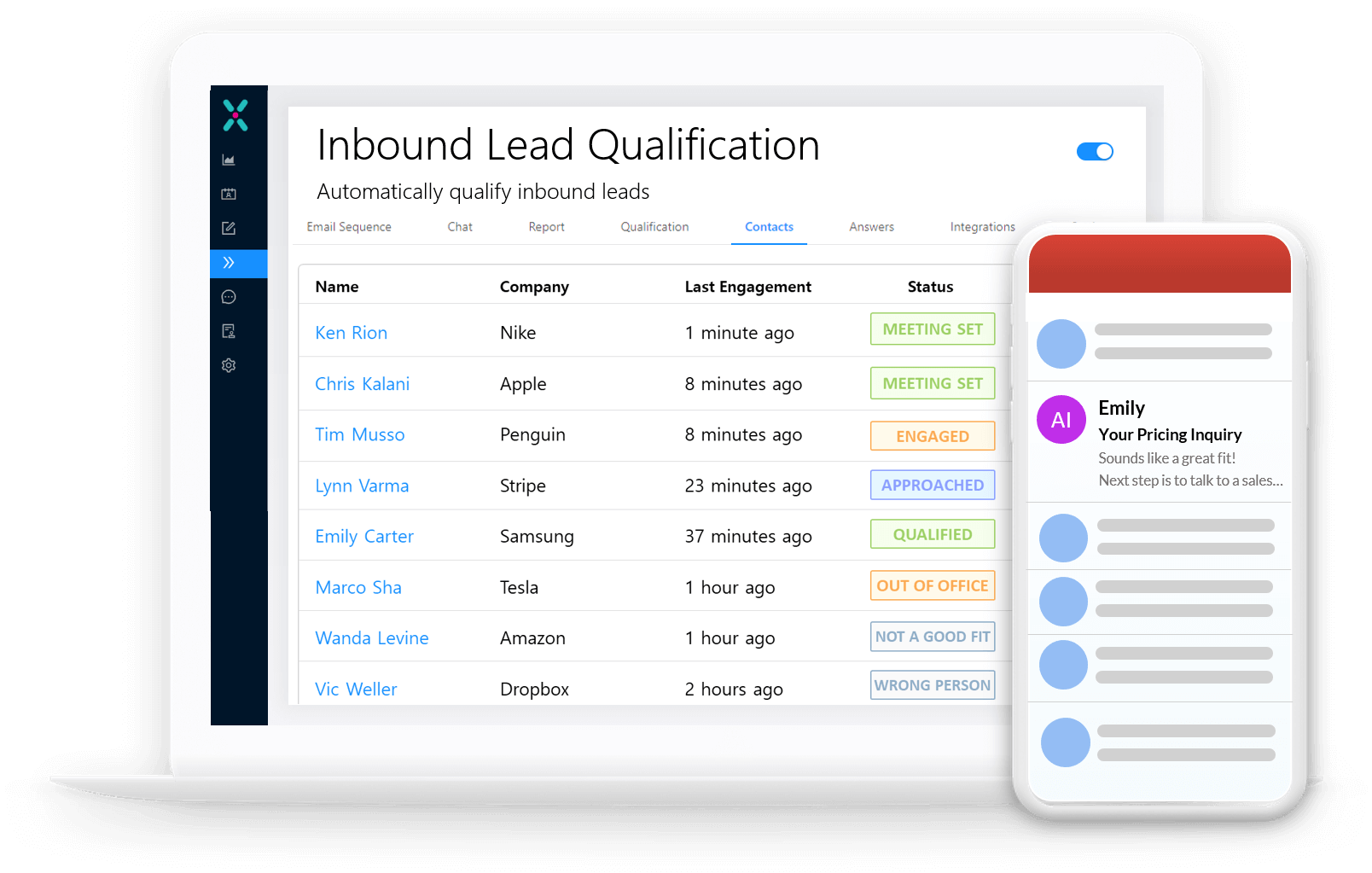 exceed automated followup