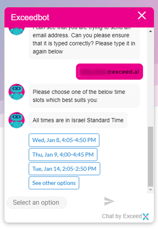 schedule meeting through chat