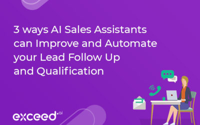 3 Ways AI Sales Assistants Improve and Automate your Lead Follow Up and Qualification