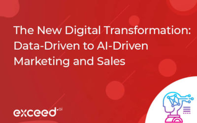 The New Digital Transformation – Data Driven to AI Driven Marketing and Sales